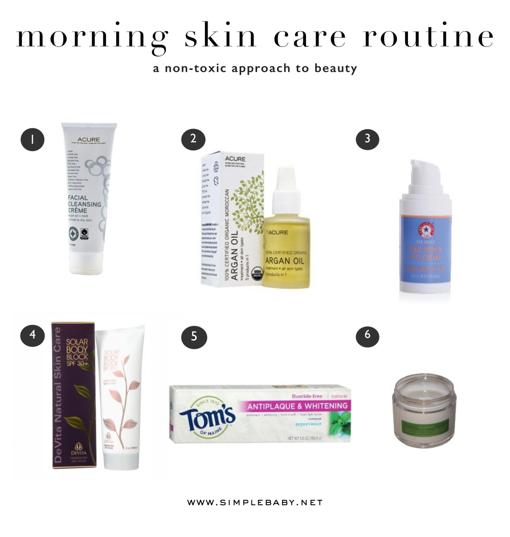 Non-Toxic Morning Skincare Routine