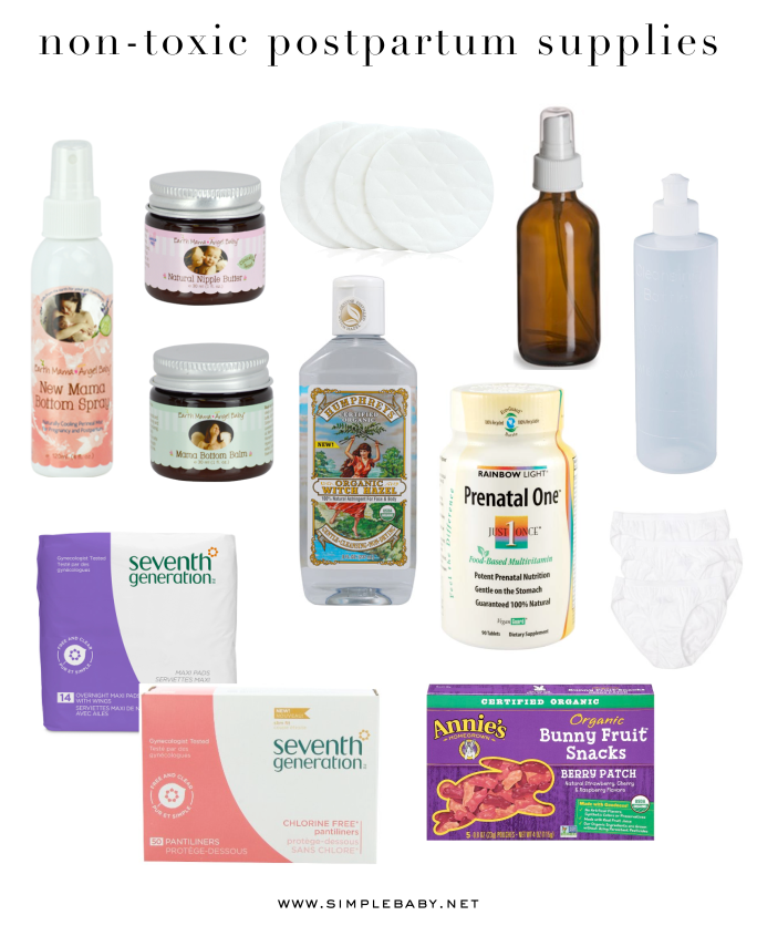Non-toxic post partum supplies